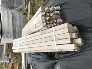 Railing spindles new , treated.  75 pc