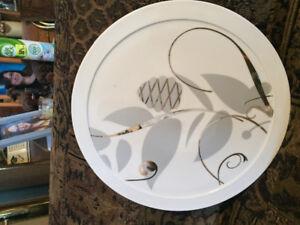 New Round Porcelain Christmas Street Platter