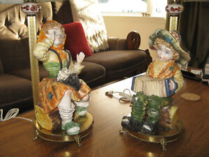 VINTAGE BOY AND GIRL LAMPS