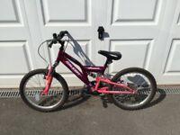 "Girls Raleigh Mission Bike 20"" wheels"