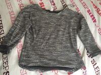 Size 10-12 woman silver jumper
