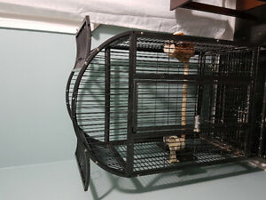 Large steel coated parrot cage