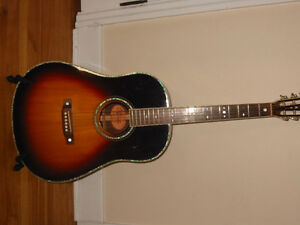 Crafter 12 Fret Acoustic Electric Guitar, K&K, H/S Case