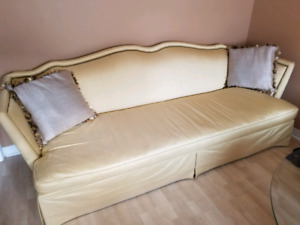 Designer Couch by Lillian August - 100% Silk, Down-filled