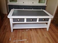 Lovely shabby chic solid wood coffee table