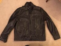 Mens leather look jacket Duffer XL