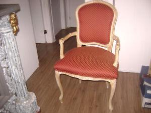 fauteuil  ant  victorien  rouge prix  reduit