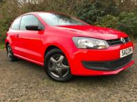 *12 MTHS WARRANTY*2012(12)VW POLO 1.2 S 3DR WITH 37K FSH 1 FORMER KEEPER*