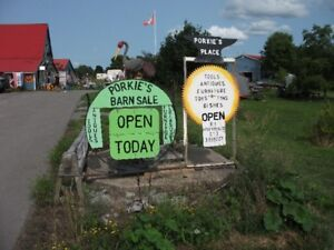 Porkie's Place Barn Sale at 1540 hwy 62 in PEC