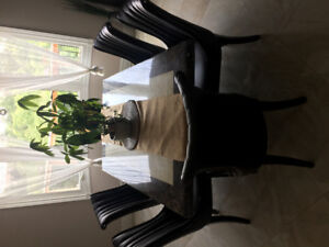 GOOD CONDITION STONE DINNING TABLE