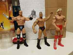WWE TRIPLE H, THE ROCK, RIC FLAIR ACTION FIGURES