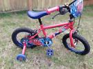 Boys spiderman bike 3-6 yrs old
