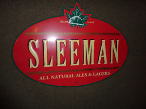 Assorted Beer Signs and Brewery Cases