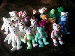 Beanie Baby collection. Cute, soft and Cudly.