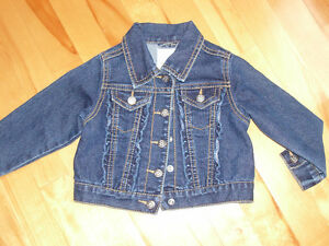 Manteau jeans fille 24 mois