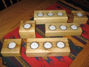 ONTARIO White Cedar Tealight Holders - NEW