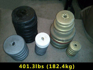 401.3lbs of Weight Lifting Plates (182.4kg)