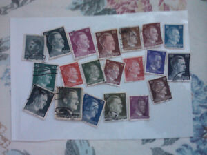hitler and other world stamps