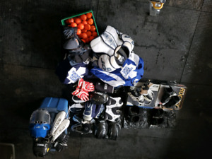 Hockey Equipment, Skates, Gloves, Helmets etc. Variety of items