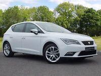 SEAT Leon 1.6 TDI CR SE (Tech Pack) 5dr (start/stop) (white) 2014