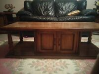 3 pieces solid wood (coffee table and two lamp tables)