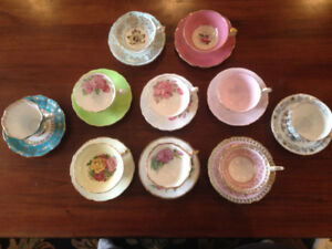 $Reduced$ Box 102 - 10 Vintage Quality English China Teacups