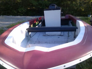 Center console boat, no motor or trailer, it's a good solid boat
