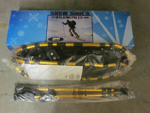 New Adult Snow Shoes & Walking Poles