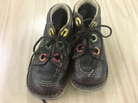 Boy shoes, Kickers ( real leather) size 25