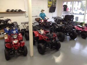 Large selection youth atvs, 110,125,135,150cc Great Xmas gifts