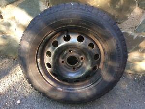 Set of 4 185 65 R14 Winter Tires on Rims