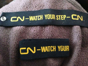 CN CNR Conductor Arm Bands, Pant Cuffs Watch Your Step Mint Cambridge Kitchener Area image 3