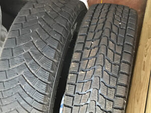 Set of winter tires for Chev Trax- choose from two sets.