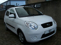 10 10 KIA PICANTO 1.0 5DR WHITE £30 ROADTAX LOW MILEAGE F.S.H JUST MOTD+SERVICED