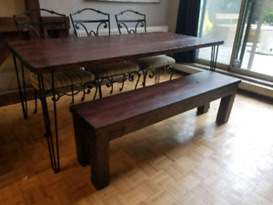 Harvest table and bench $200