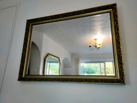 Mirror Gold / Gilded colour ornate with antique decorative relief