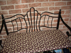ENTRANCE bench with cushion,  Brand new condition metal two sea