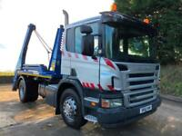 2011 61 Scania P230 euro5 Hyva lift extending arm skip loader 211kms