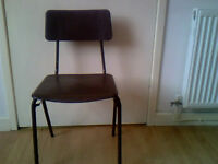 50 x Brown Stackable Plastic Chairs