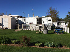Roulotte camping Guilmette