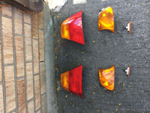 OEM BMW E46 3 SERIES TAIL LIGHTS, CORNER LAMPS, SIDE MARKERS