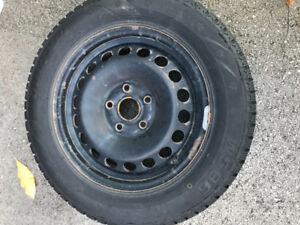 Four Snow Tires with Rims