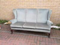 Parker Knoll green grey vintage sofa