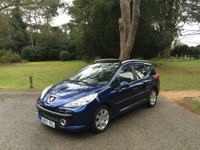 2008 peugeot 207 sw 1 6hdi 90 sport 5 door estate blue in poole dorset gumtree. Black Bedroom Furniture Sets. Home Design Ideas
