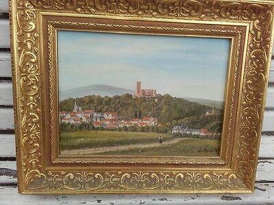 Hans Raufenbarth Kronsberg Taunus Landschaft Öl/Malkarton 20. Jh.