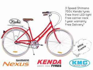 NIXEYCLES Keeka 3 Speed   Vintage Alloy Frame   Free Delivery* Sydney City Inner Sydney Preview