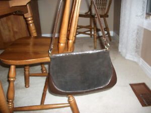 BROWN SUEDE AND LEATHER PURSE Kitchener / Waterloo Kitchener Area image 1