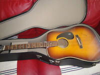 1988 EPIPHONE ACOUSTIC GUITAR  IN GOOD CONDITION WITH CASE $165