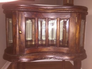 Lovely antique curio cabinet, reproduction