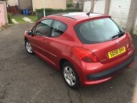 PEUGEOT 207 CIELO•ONLY 20,000 MILES•1 YEAR MOT•FSH• not Corsa golf Astra polo ka Clio punto sport